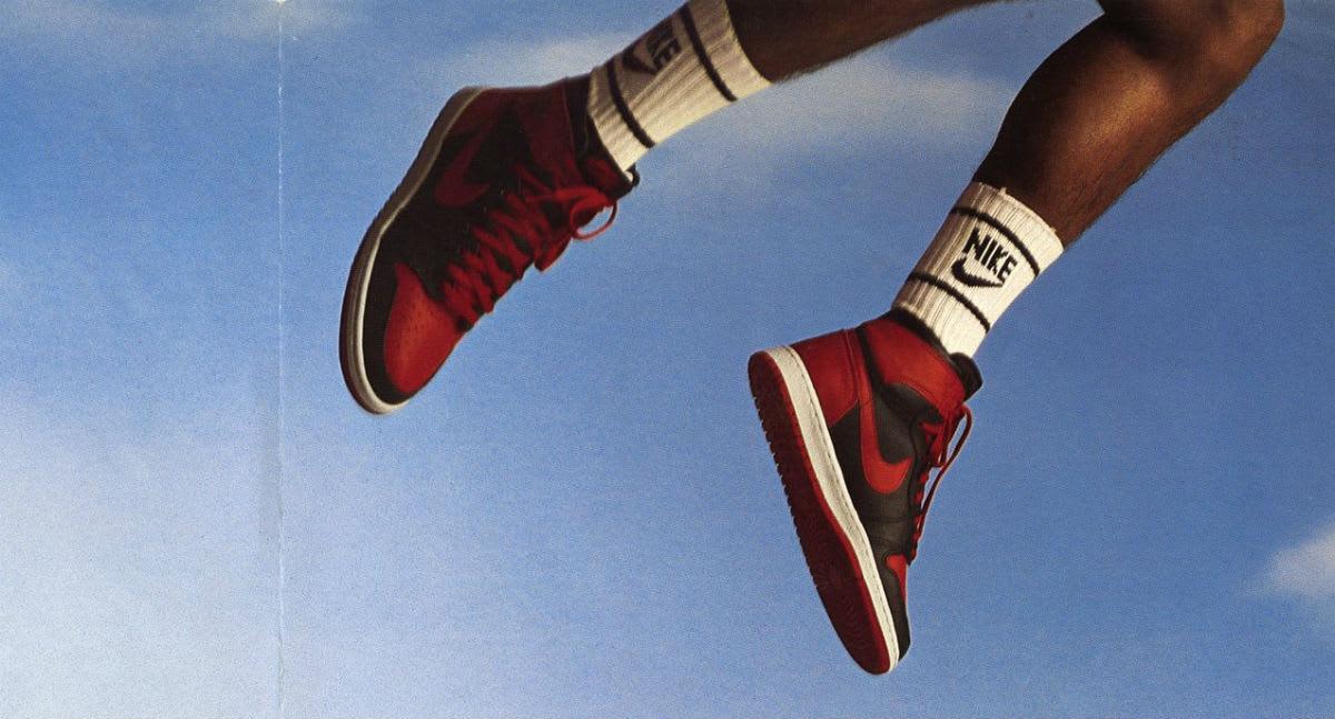 Michael Jordan Air Jordan 1 Banned Ad 1985