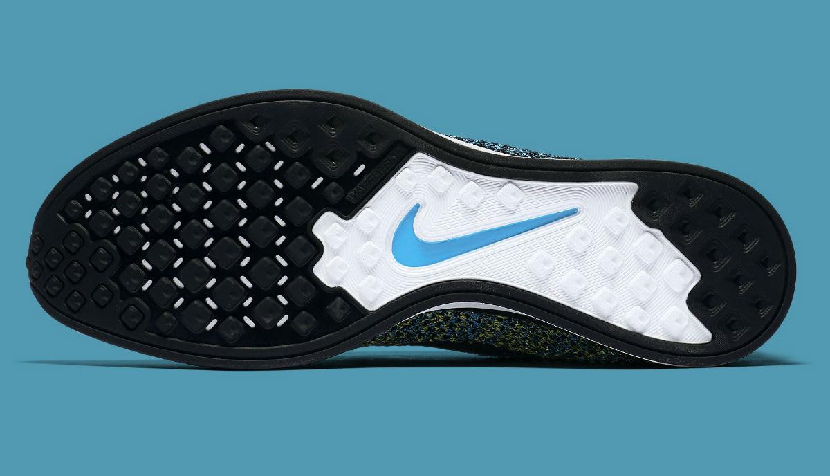 31758c999a1d6 Nike Flyknit Racer Blue Glow Yellow Strike Release Date Sole 526628-405