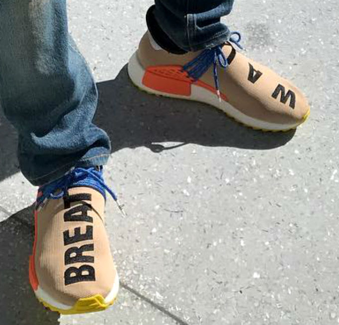 Pharrell Adidas NMD HU Tan Orange Blue Yellow