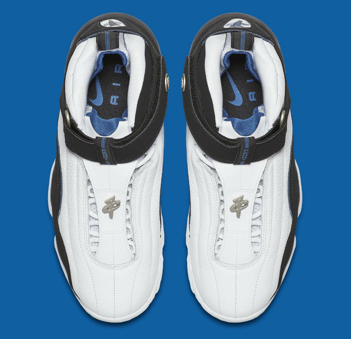 Nike Air Penny 4 OG White Black Blue Release Date Top 864018-100