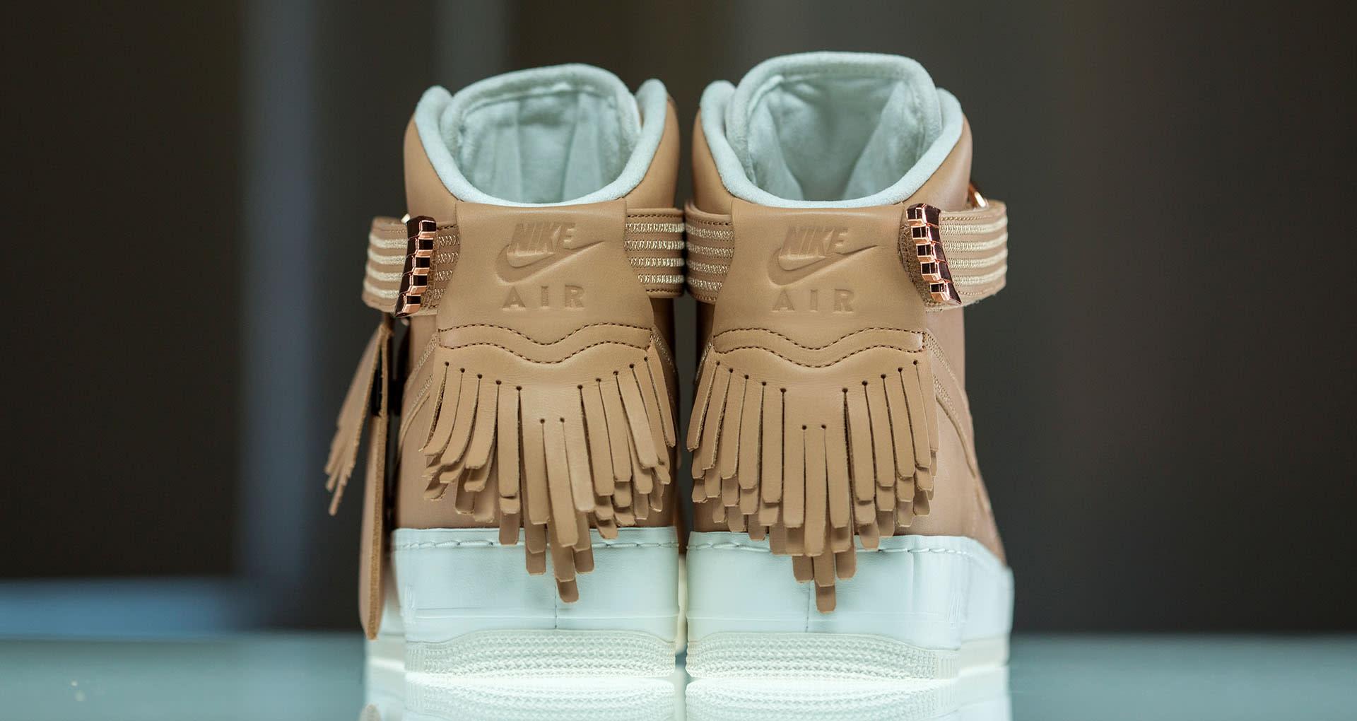 newest 73c5e 8fa33 Nike Air Force 1 Sport Luxury Vachetta Tan Heel