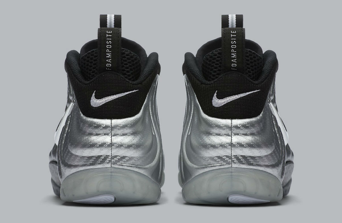 Nike Air Foamposite Pro Silver Surfer Release Date Heel 616750-004