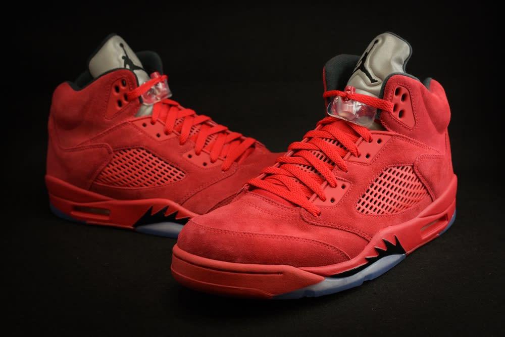 Air Jordan 5 Red Suede Release Date Main 136027-602