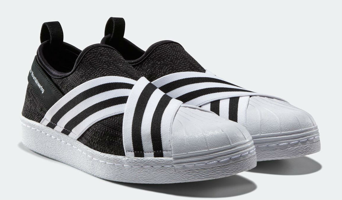 White Mountaineering x Adidas Superstar Slip-On Black Toe