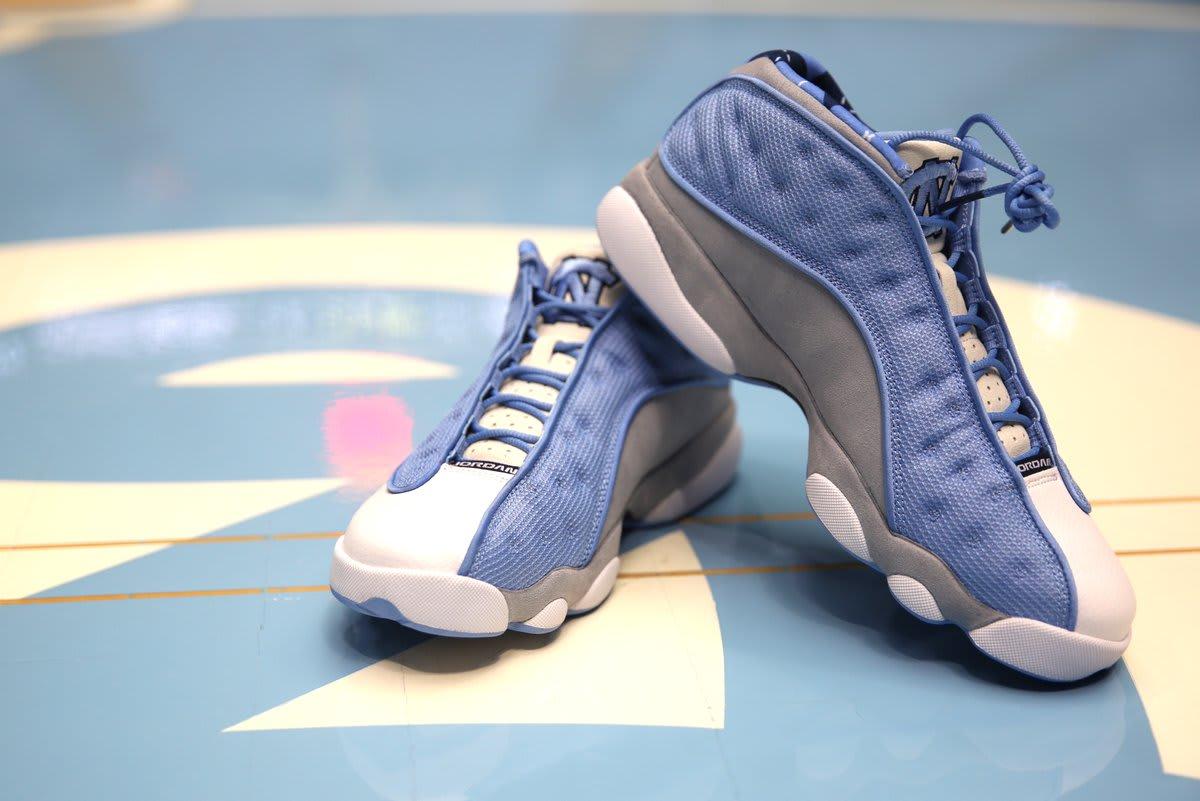 89b6a503a56e Image via UNC Basketball s Twitter Air Jordan 13 Low PE