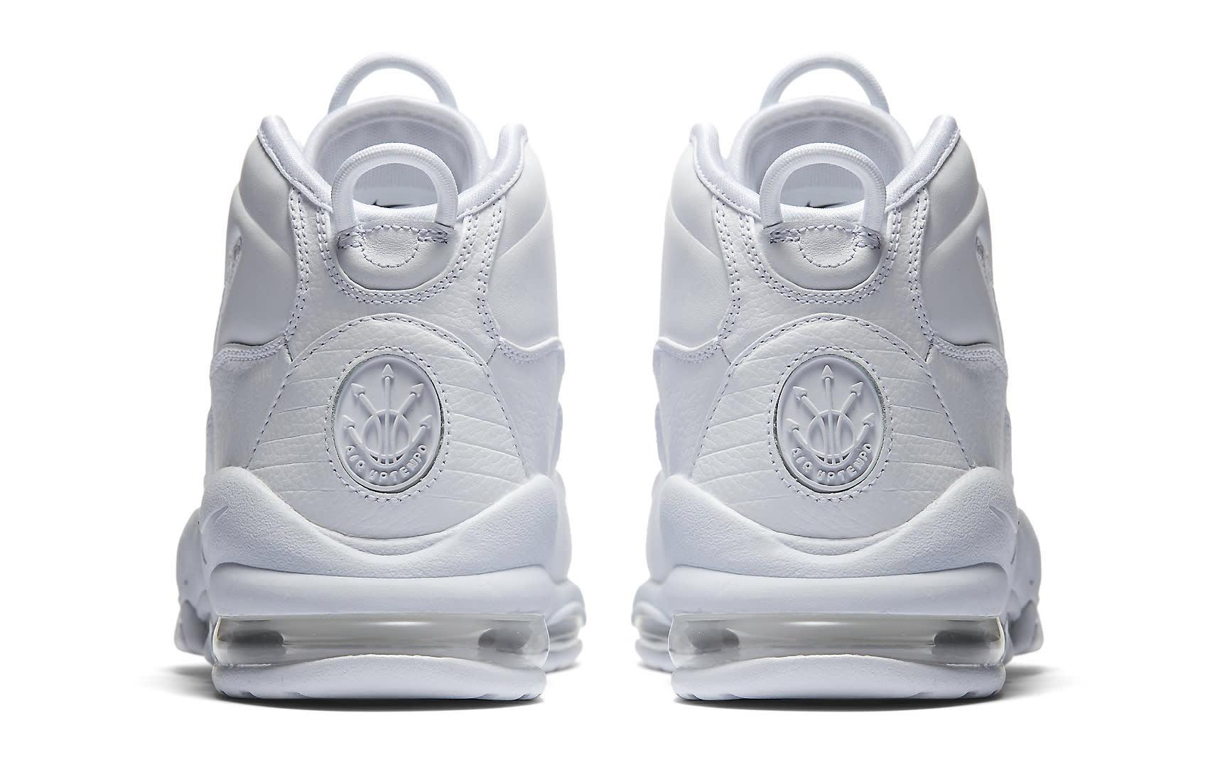 Triple White Nike Air Max Uptempo 922935-100 Heel