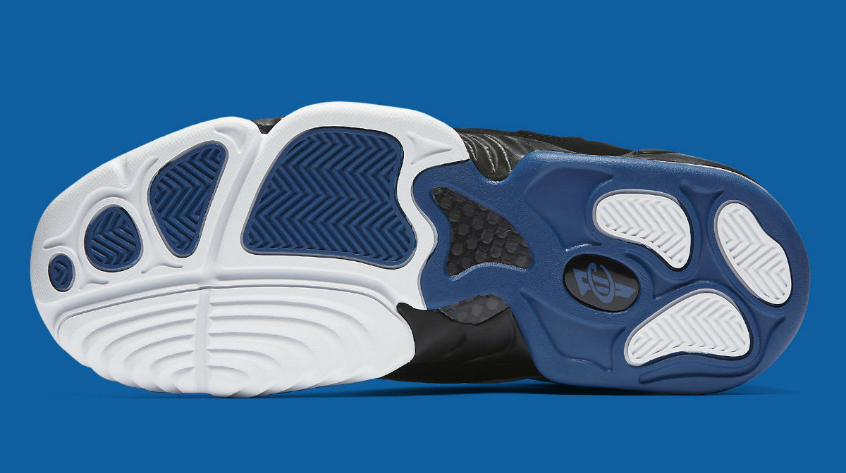 Nike Air Penny 4 OG White Black Blue Release Date Sole 864018-100