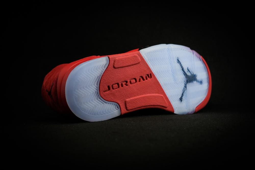 Air Jordan 5 Red Suede Release Date Sole 136027-602