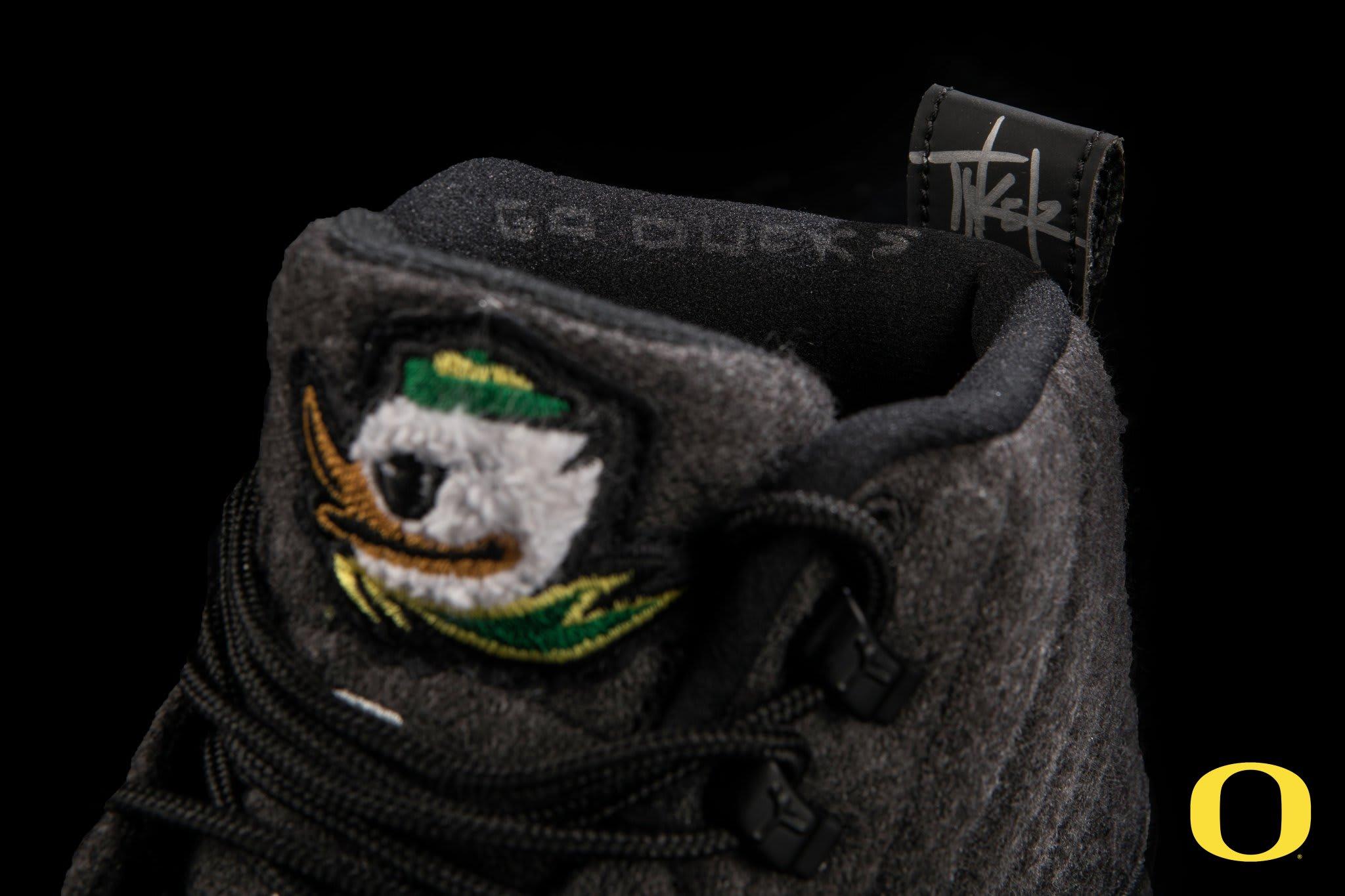 Oregon Ducks Wool Air Jordan 12 Tongue