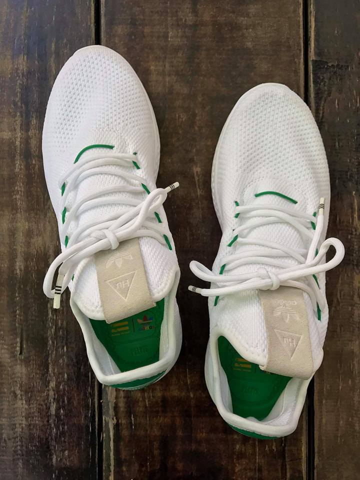 58c2e3af9b1bf1 Pharrell Adidas Stan Smith Hu White Green Release Date Top