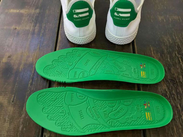 Pharrell Adidas Stan Smith Hu White Green Release Date Insoles