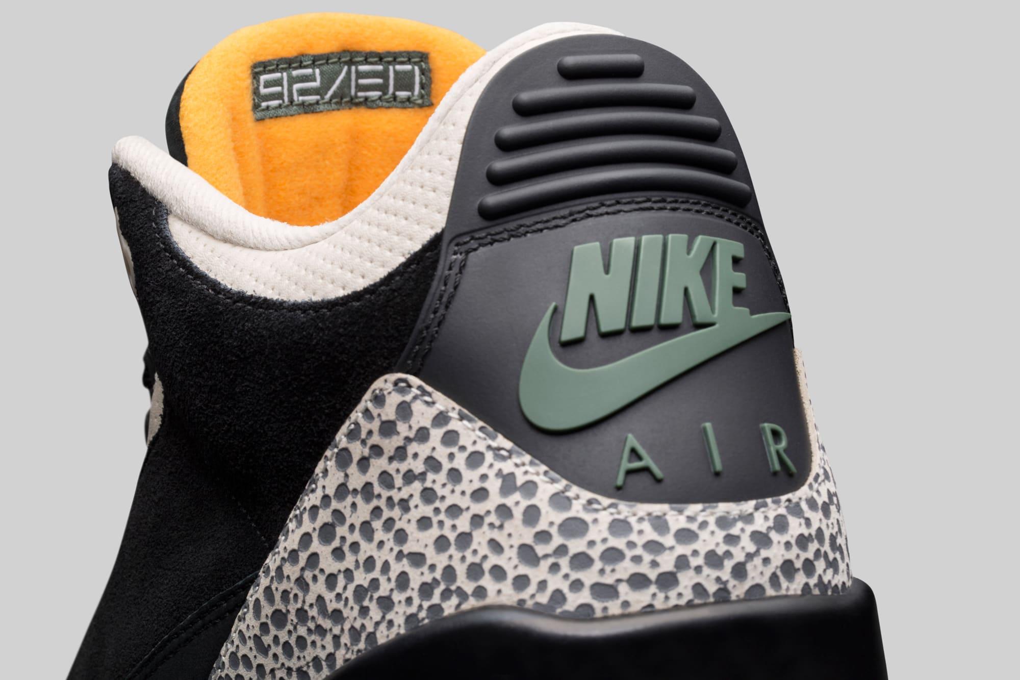 Atmos Air Jordan 3 Heel