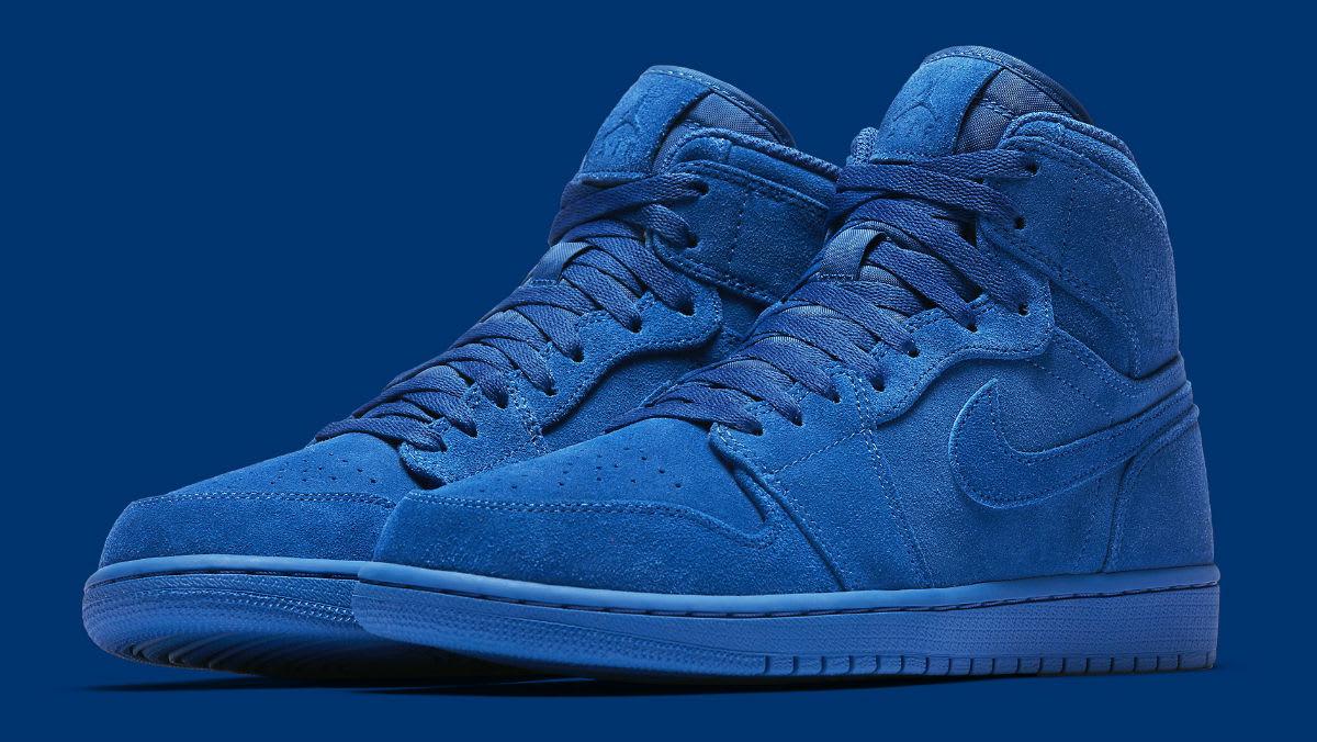 Air Jordan 1 High Blue Suede Release Date Main 332550-404