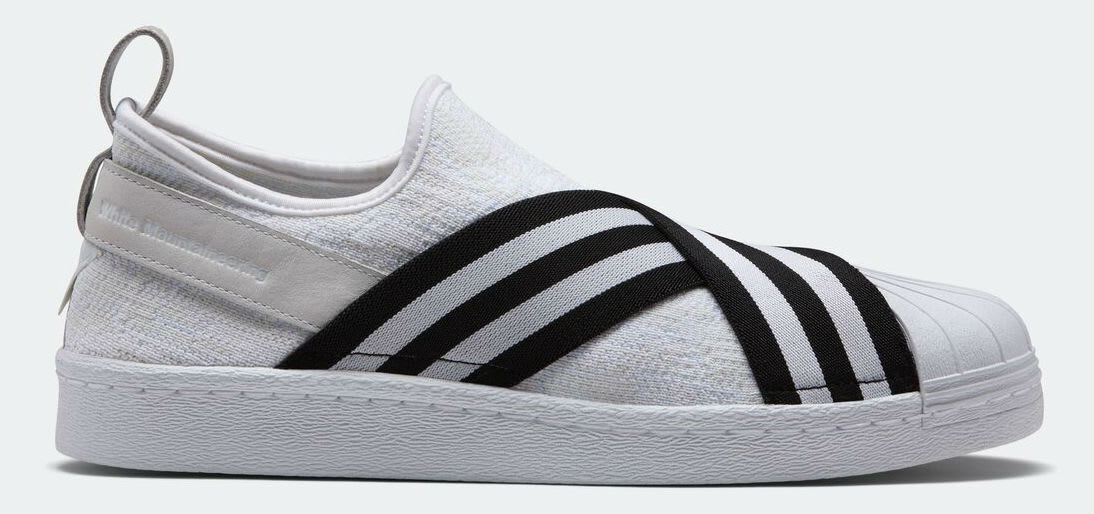 White Mountaineering x Adidas Superstar Slip-On White Profile
