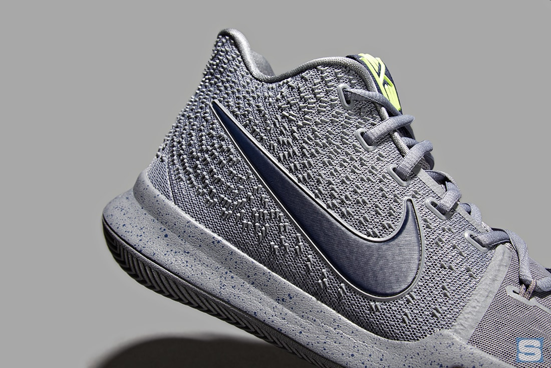 56bbd475db7 ... Nike Kyrie 3 Cool Grey Midnight Navy Pure Release Date Collar 852395-001  ...