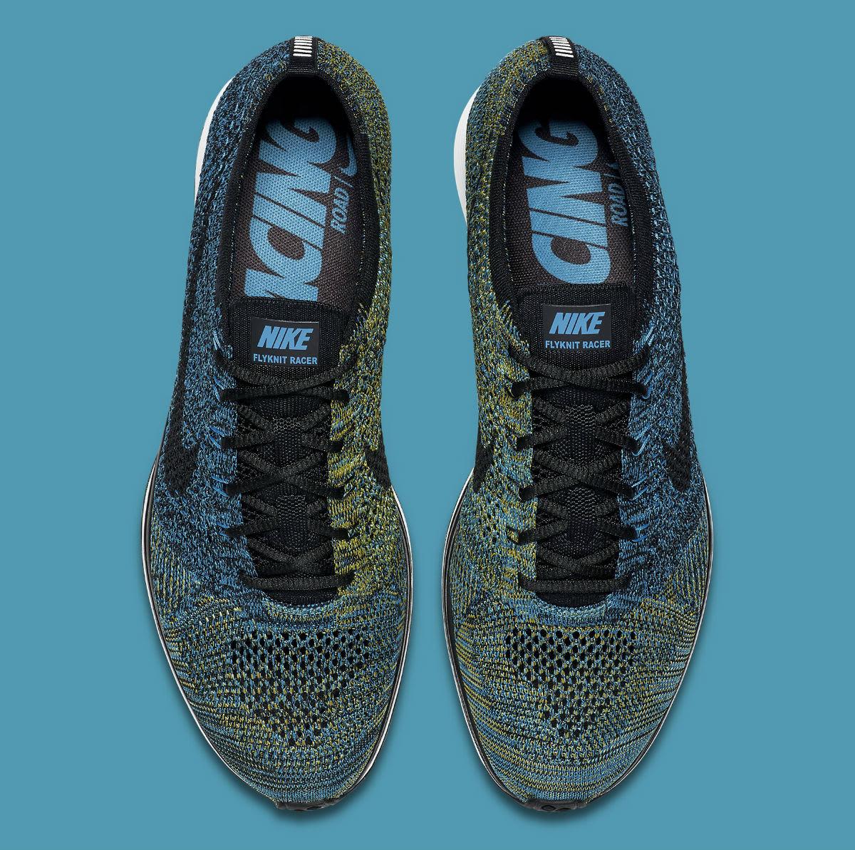 55c52cca388b Nike Flyknit Racer Blue Glow Yellow Strike Release Date 526628-405 ...