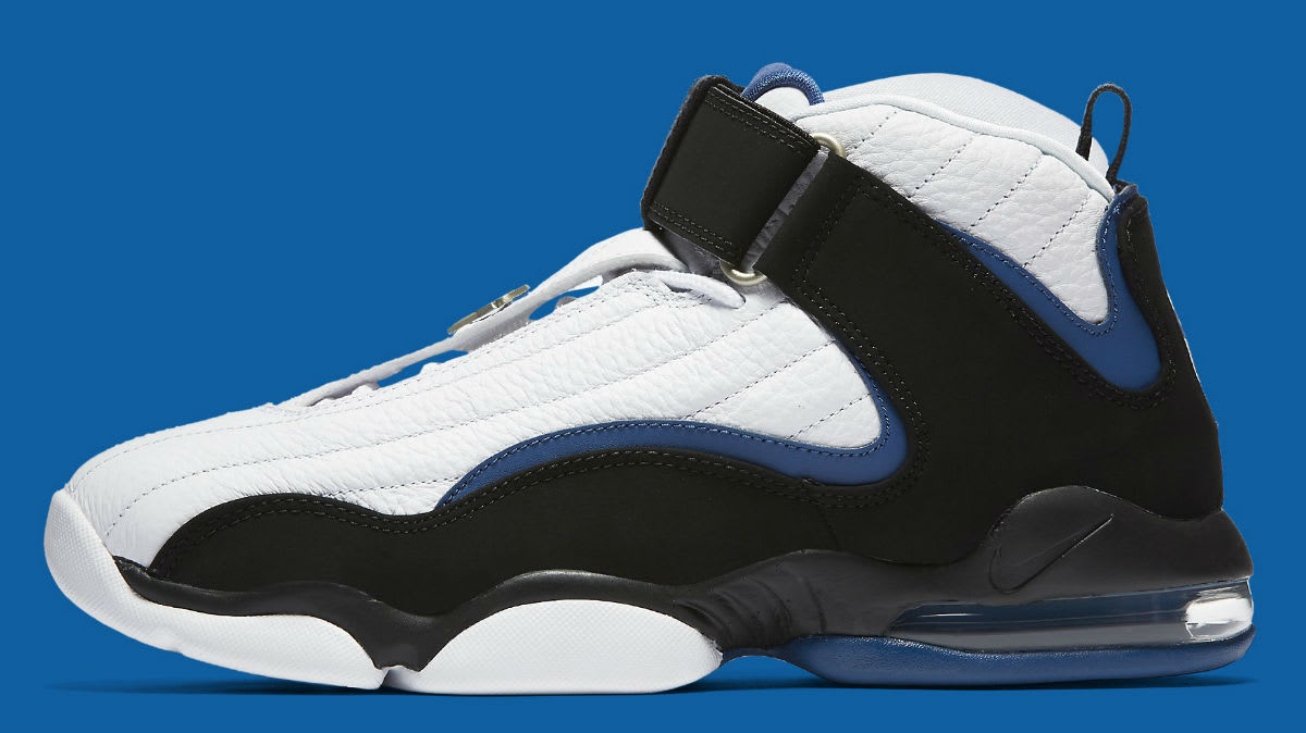 best cheap 1dc02 caa2a Nike Air Penny 4 OG White Black Blue Release Date Profile 864018-100