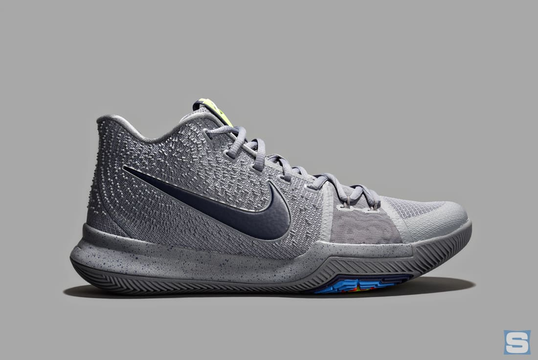 Nike Kyrie 3 Cool Grey Midnight Navy Pure Release Date Lateral 852395-001