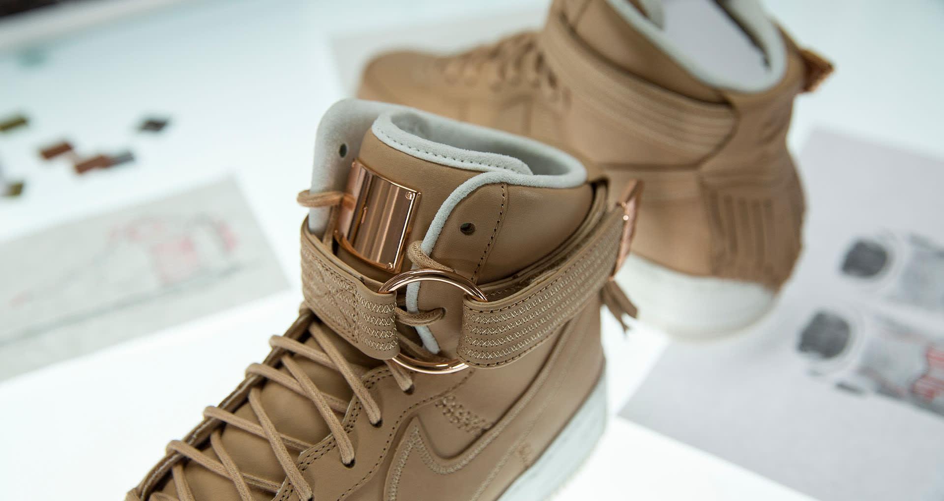 ce93e7c1b915 Image via Nike Nike Air Force 1 Sport Luxury Vachetta Tan Tongue