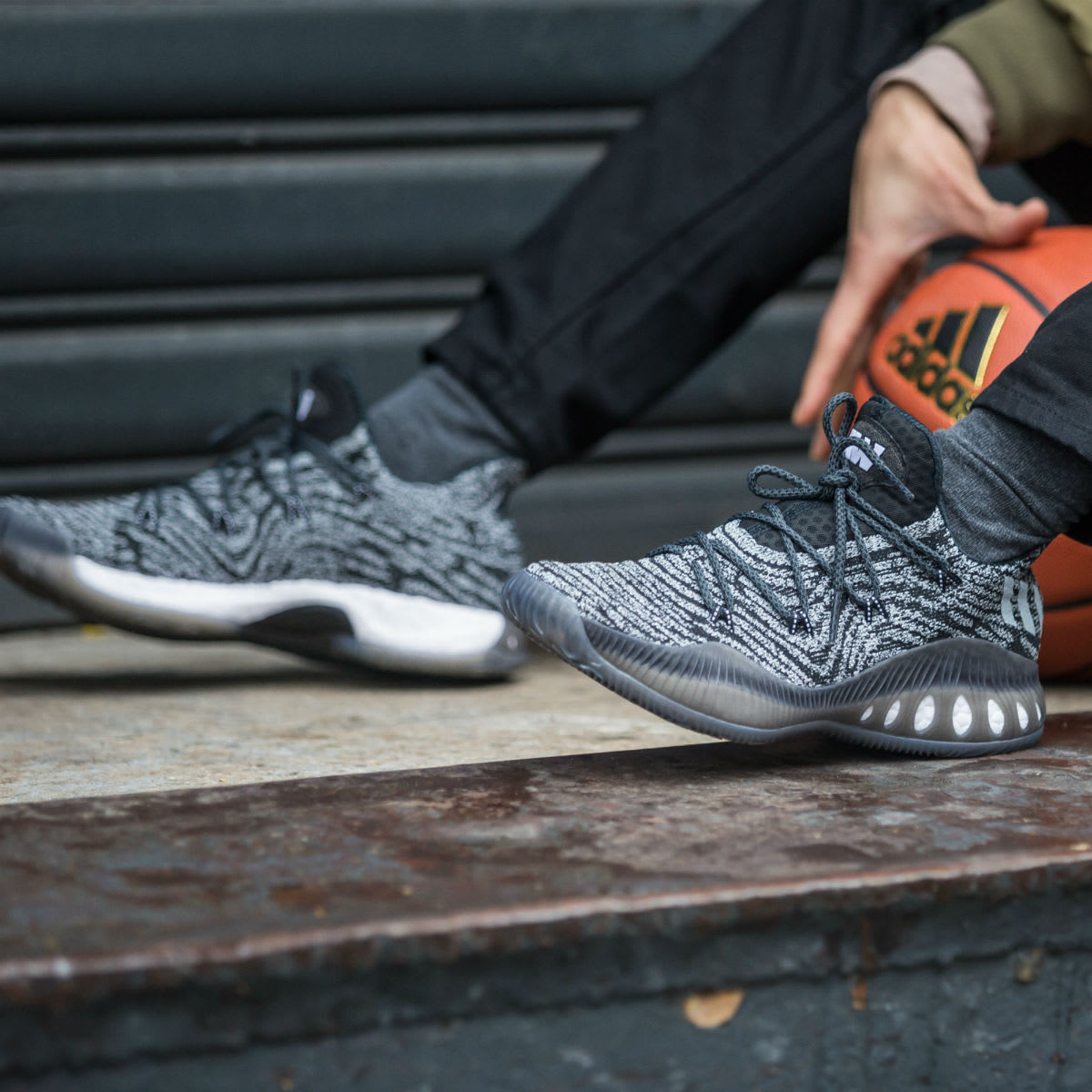 Andrew Wiggins Adidas Crazy Explosive Low Wolf Grey On-Foot
