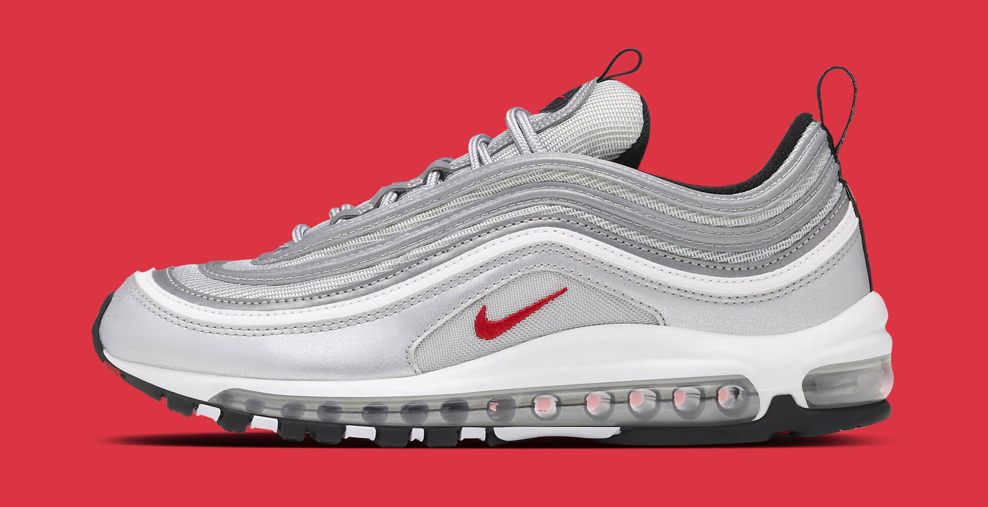 Silver Nike Air Max 97 884421-001 Profile