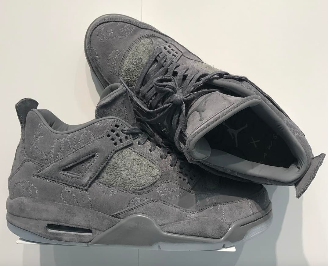 Air Jordan IV 4 X Kaws Cool Grey White Glow SZ 9.0 930155-003 SHIPS FRIDAY
