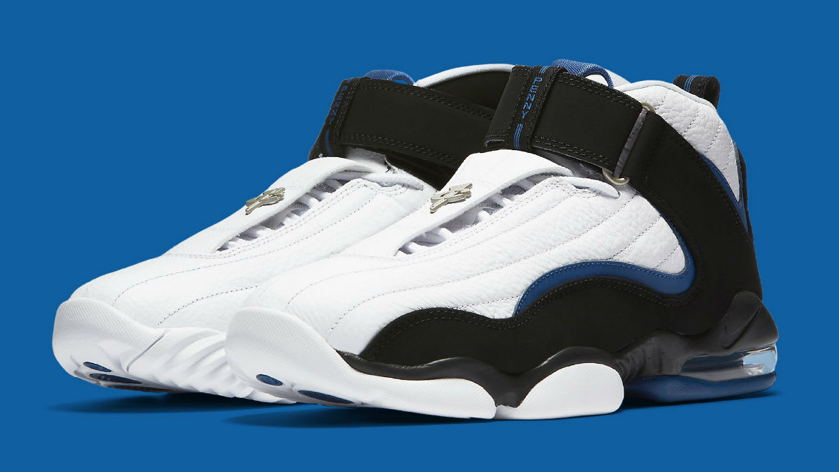 a00adfa6ba7d Nike Air Penny 4 OG White Black Blue Release Date Main 864018-100