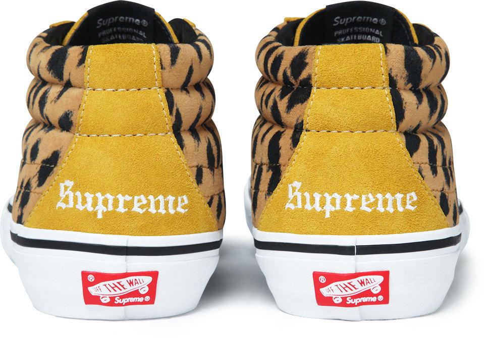 Vans Supreme Leopard Velvet Sk8-Mid Heel