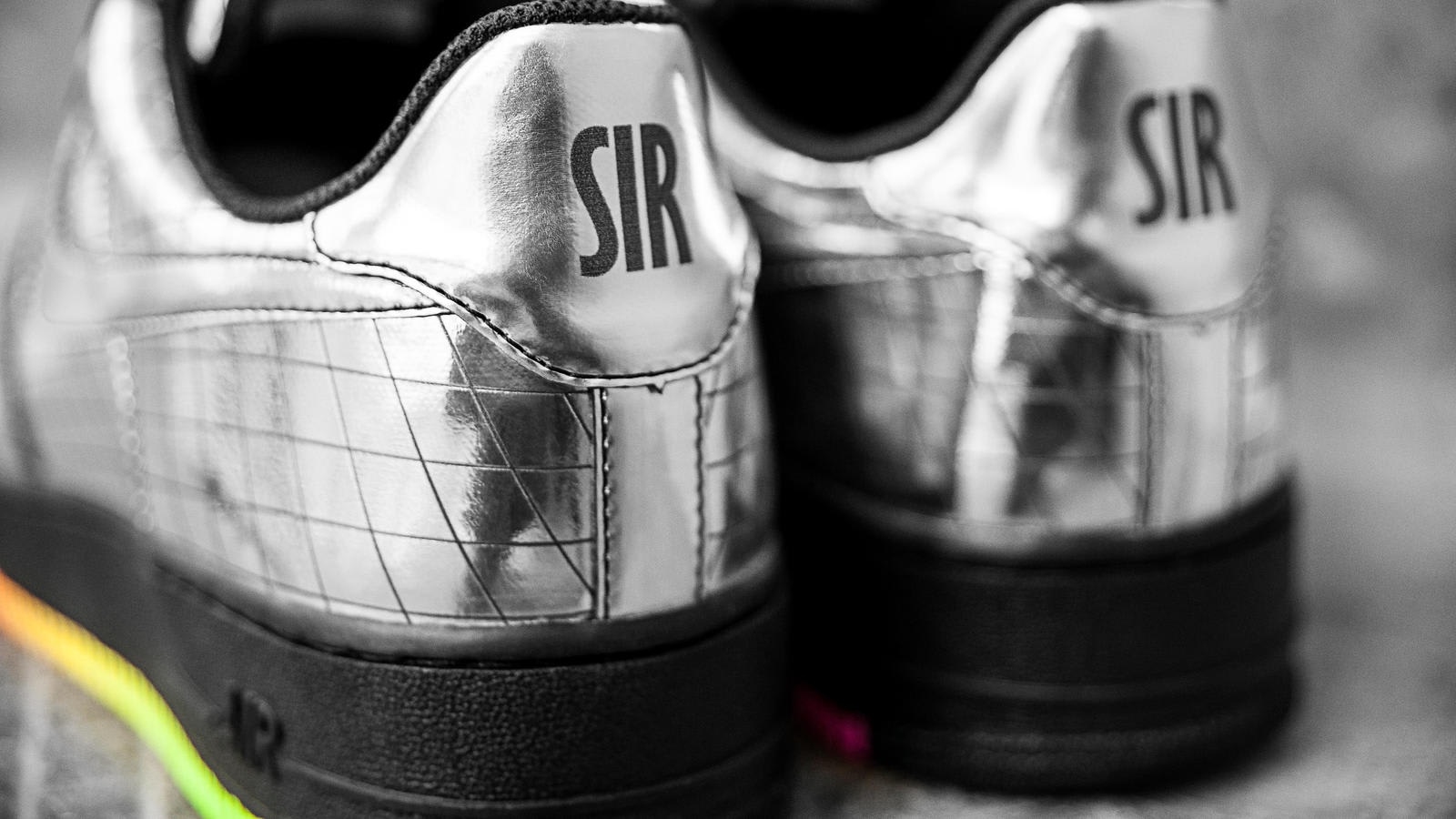 Elton John Nike Air Force 1 The Jet Heel