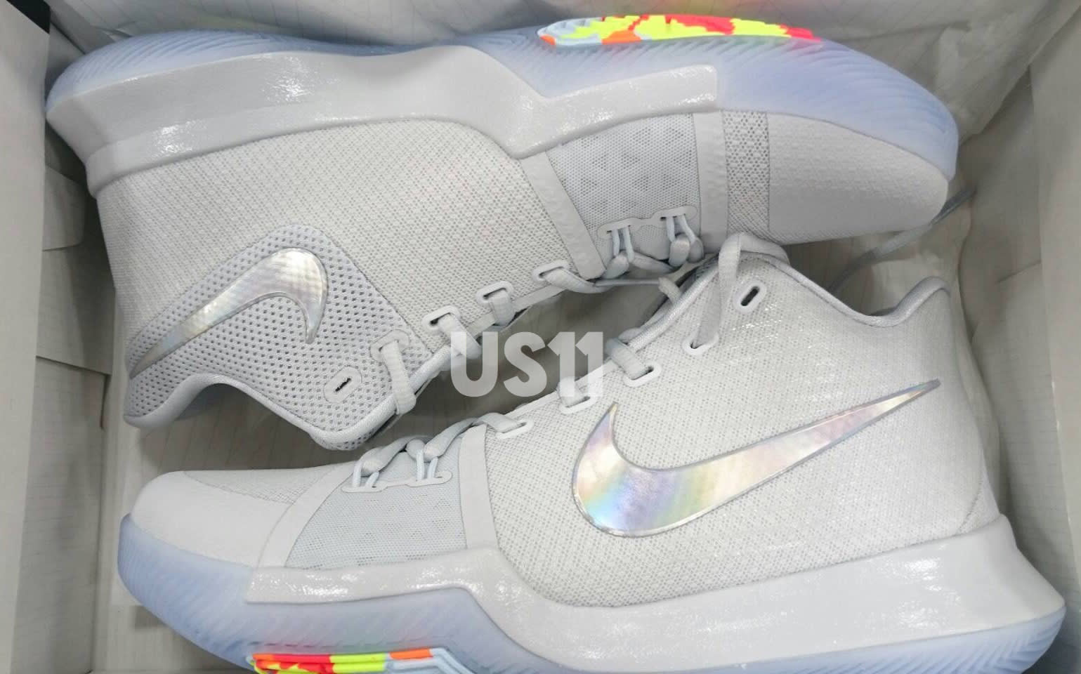 cheaper 226f7 eab53 Nike Kyrie 3 TS ASG White Multicolor Volt Release Date