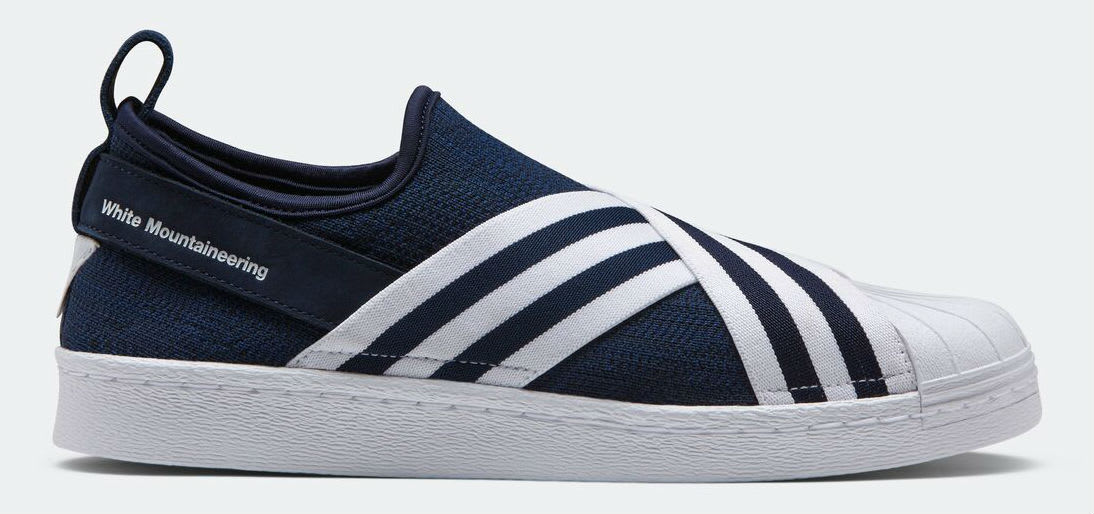 White Mountaineering x Adidas Superstar Slip-On Navy Profile