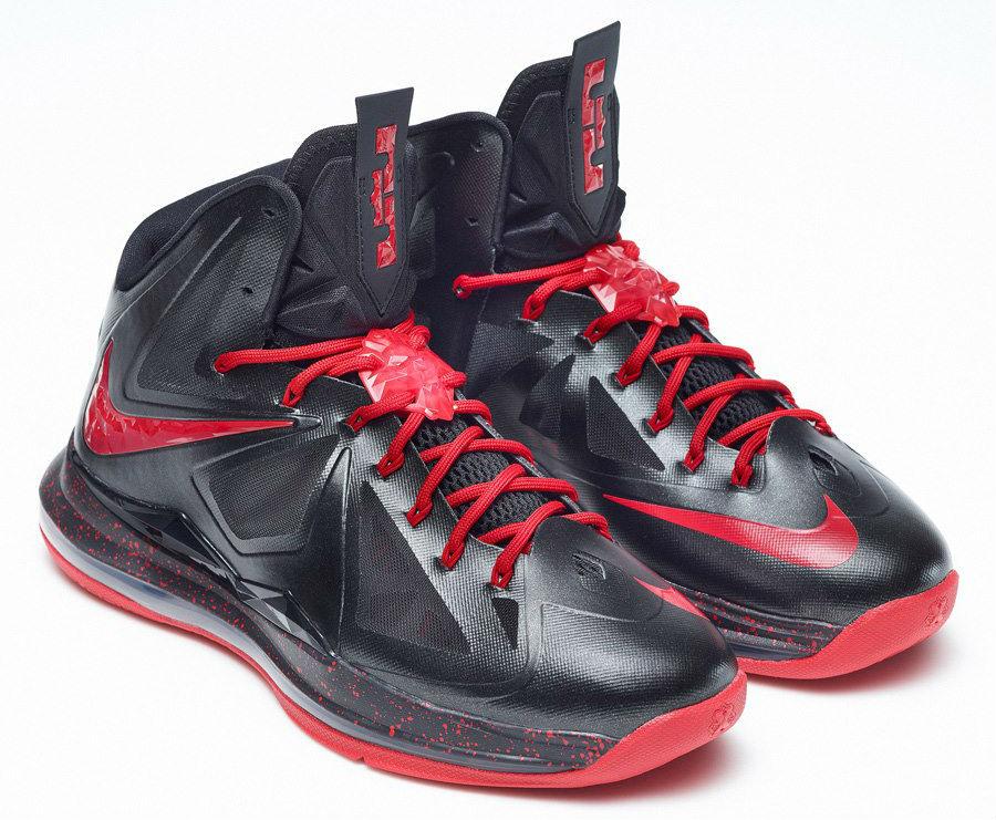Nike LeBron X+ iD - Black Red  3b9e4f1354