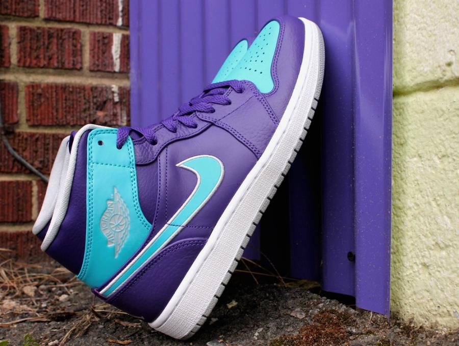 hot sale online fb4aa 12d9f Air Jordan 1 Retro Mid - Court Purple Gamma Blue