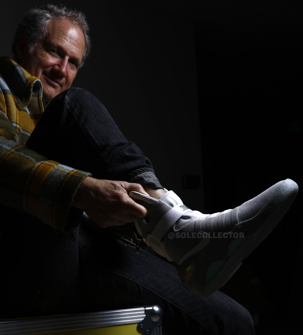 Tinker Hatfield wearing Nike MAG