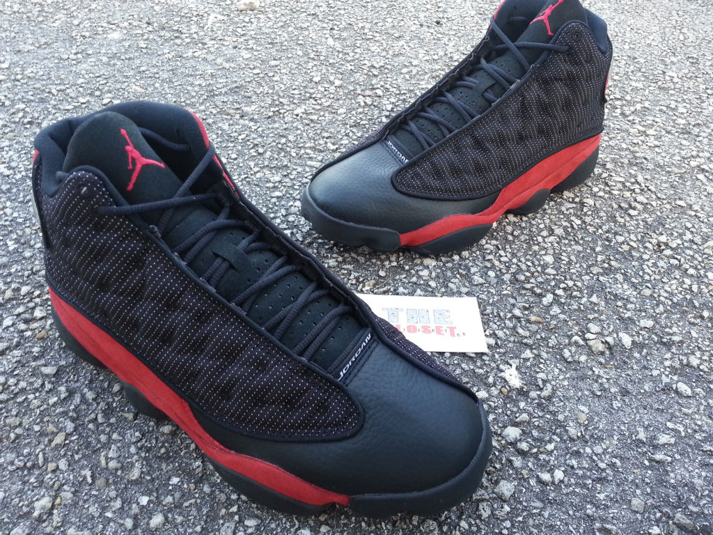 Mens Air Jordan 13 Black Red shoes