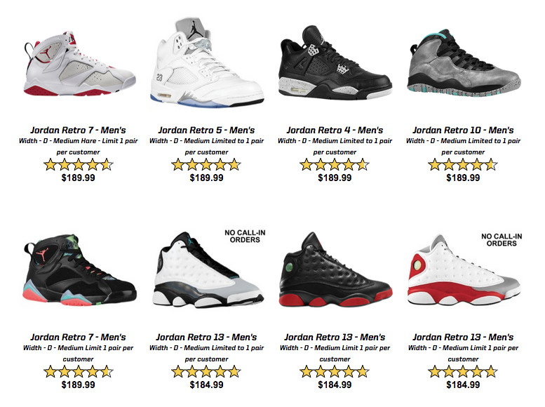 The Air Jordans that appear below will be available starting at 10 a.m. EST  on Aug. 25 via Eastbay here.