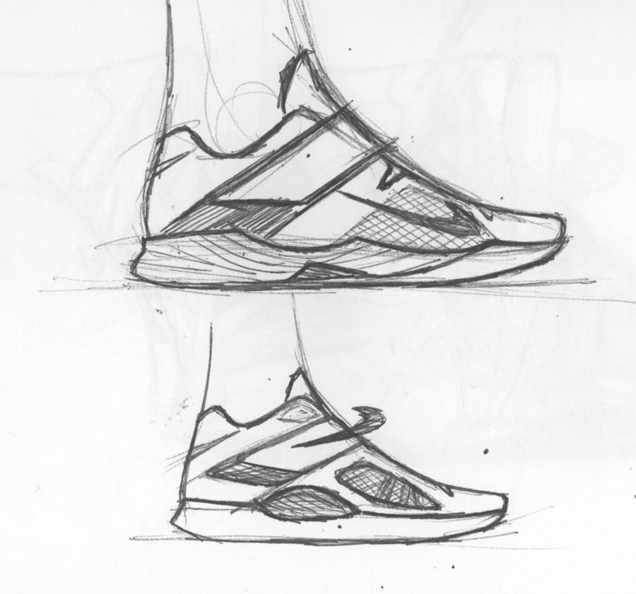 Nike Zoom KD IV Design Sketch Leo Chang 2