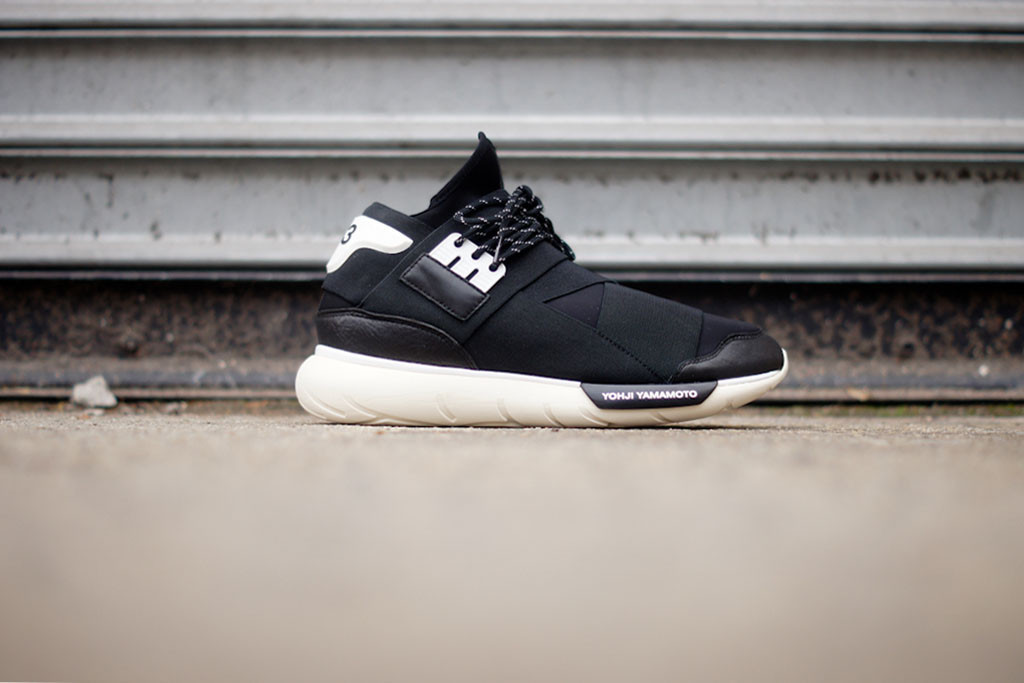 adidas yohji yamamoto y-3 qasa high in black and white profile
