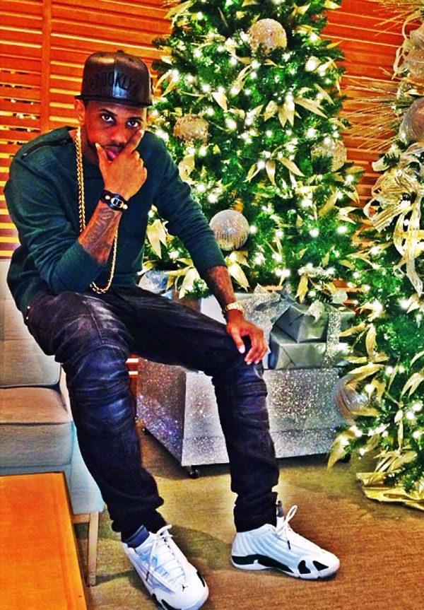 Fabolous wearing Air Jordan 14 Retro Forest Green