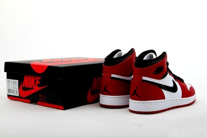 Air Jordan 1 Retro High OG GS - White/Varsity Red-Black