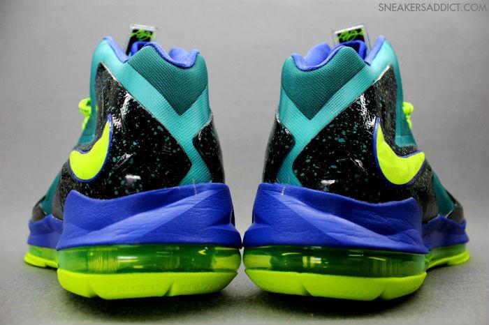 Nike LeBron X PS Elite - Sport Turquoise/Volt-Violet Force ...  Lebron 10 Elite Turquoise
