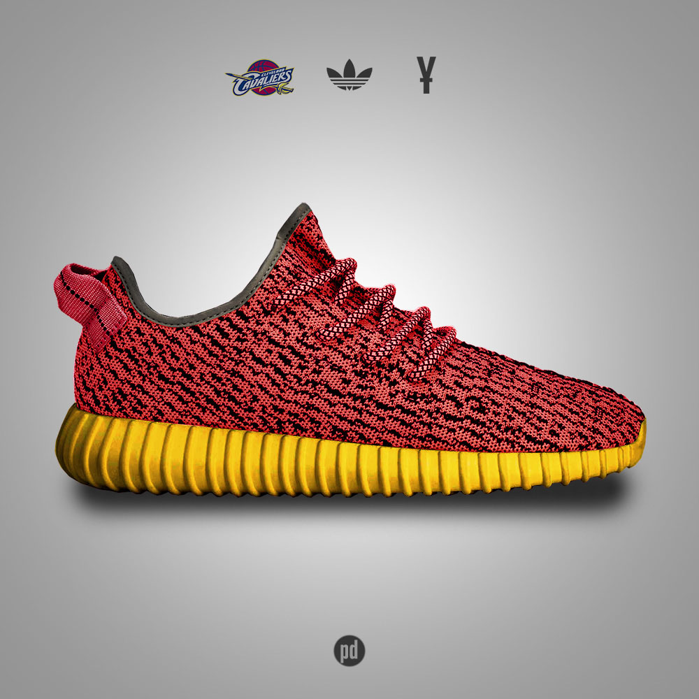 adidas Yeezy 350 Boost for the Cleveland Cavaliers