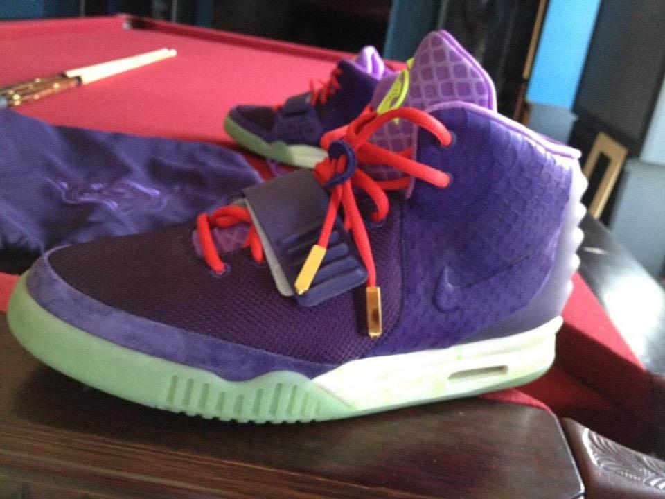 482df4b6122a Nike Kobe Bryant Kanye West Nike Air Yeezy 2 Shoes Purple Cheetah