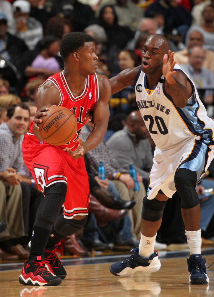 Jimmy Butler & Quincy Pondexter wearing adidas Top Ten 2000