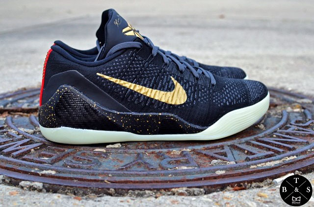 separation shoes 6e0bb 42448 NIKEiD Kobe IX 9 Elite Low Black Gold