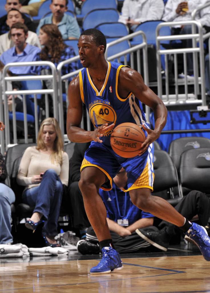 Harrison Barnes wearing adidas Rose 773 Blue