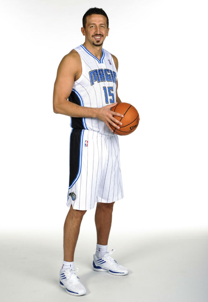 Hedo Turkoglu wearing adidas adiZero Crazy Light Low