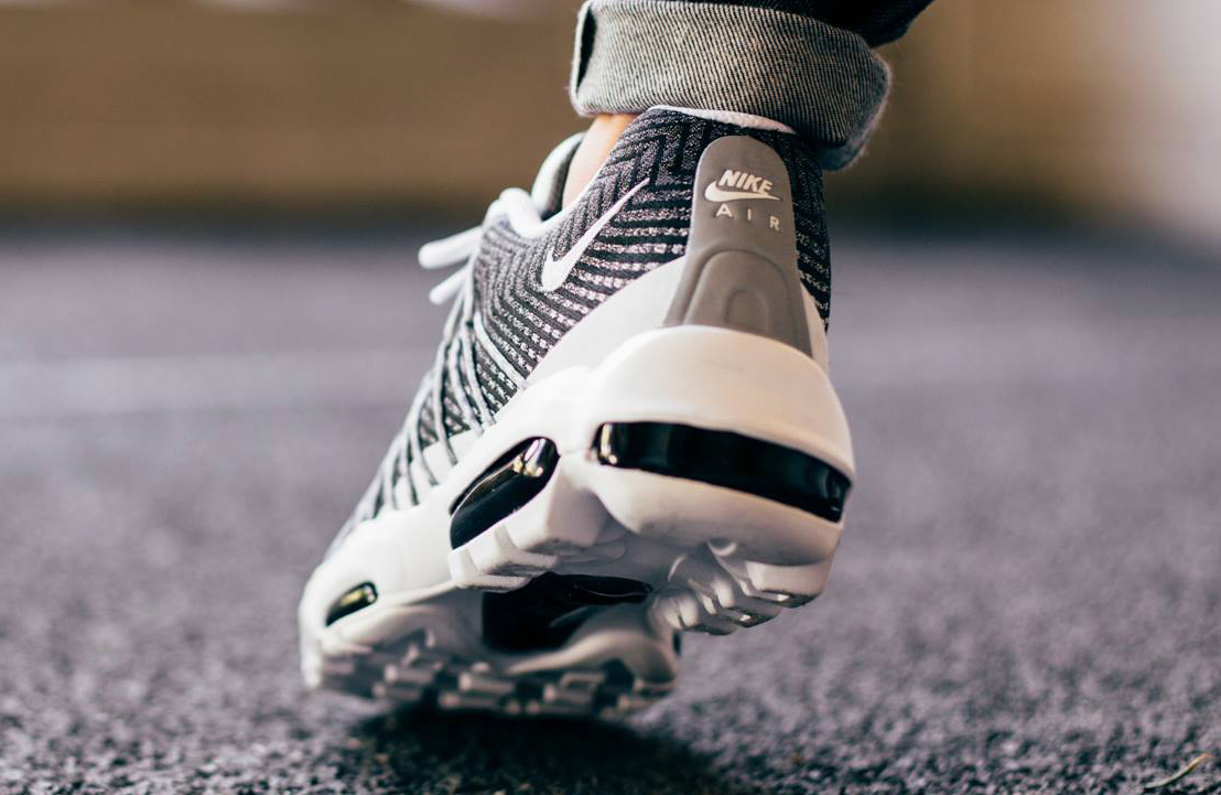 Nike Air Max 95 Essential Trainer Black / Wolf Grey Footasylum