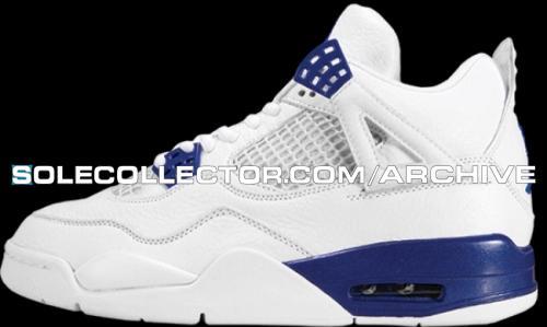 new style dc85a ac864 Air Jordan IV 4 White Blue Sample (2004)