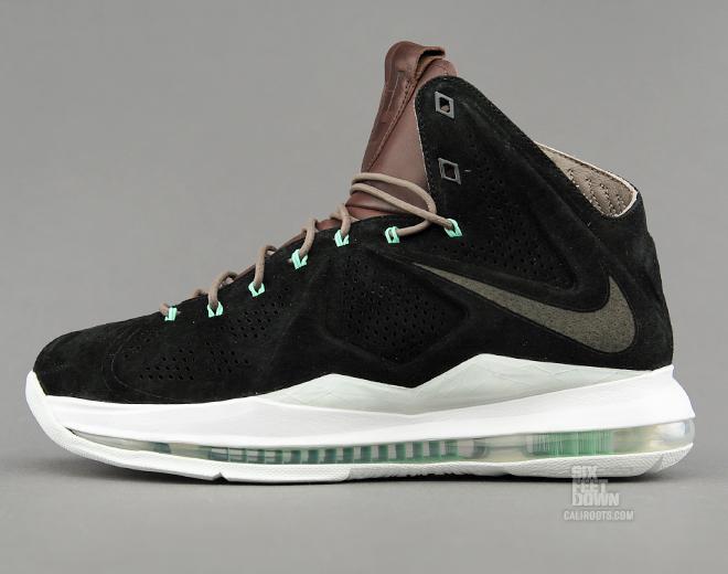 7/20/13 Nike LeBron X EXT QS 607078-001 Black/Black-Dark Field  Brown-Tourmaline